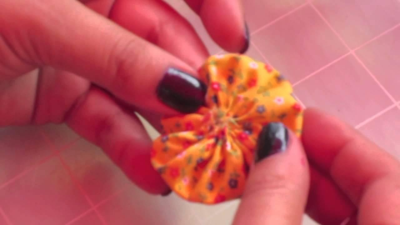 Diy yoyo s quilt youtube - Flores de telas hechas a mano ...