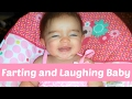 ♥ ♥ ♥ BABY LAUGHS AT HER OWN FARTS ♥ ♥ ♥