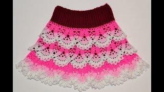 Юбка крючком. Мастер класс+ схема. Skirt crochet