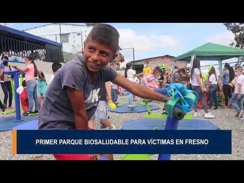 En el muncipio de Fresno comunidad víctima retornada estrenó parque Biosaludable
