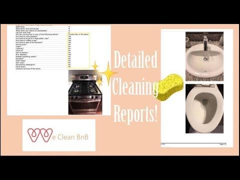 We Clean Bnb | Custom Cleaning Reports