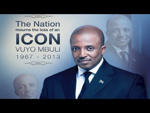 A memorial service for TV and radio presenter Vuyo Mbuli