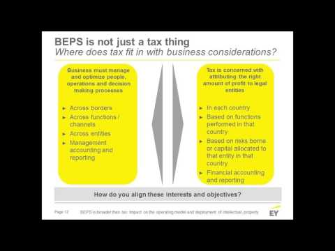 BEPS is broader than tax: Impact on the operating model and the deployment of intangible property