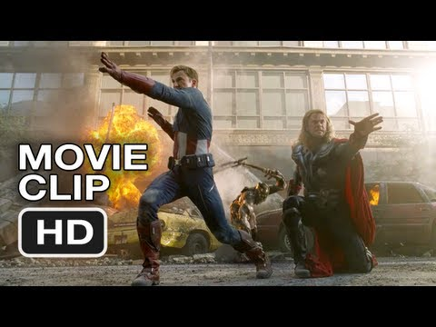 The Avengers Movie CLIP #2 - Thor and Captain America Do Battle (2012) Marvel Movie HD