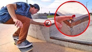 Tech Deck at a REAL Skatepark!!
