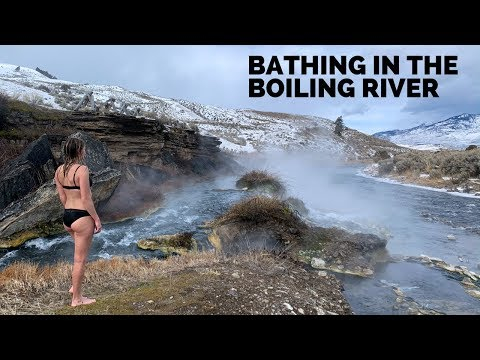 Bathing in the Boiling River | Yellowstone National Park