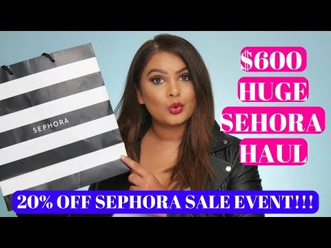$600 SEPHORA VIB SALE 2018 HAUL | HOLIDAY BONUS BEAUTY INSIDER SALE HAUL