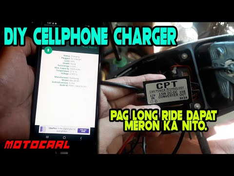 DIY - Cellphone charger for motorcycle | Honda XRM125