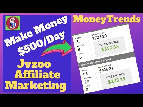 How To Make Money $500 a Day With JVZoo Affiliate Marketing -2019