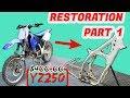 $400 YZ250 Restoration! Pt. 1 THE TEAR DOWN!!!