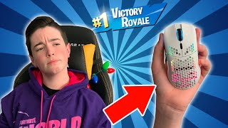 I WON WITH THE WORLD39;S LIGHTEST GAMING MOUSE  Fortnite Gameplay with Mr Bee