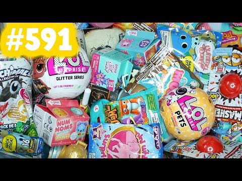 Random Blind Bag Box #591 - Slither.io Mystery Squishy, LOL Surprise Pets, Pikmi Pops, Trolls, LPS