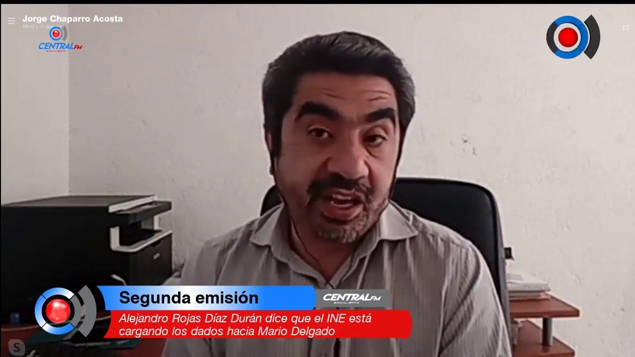 Alejandro Rojas Díaz Durán dice que el INE está cargando los dados hacia Mario Delgado