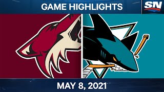 NHL Game Highlights | Coyotes vs. Sharks - May 8, 2021