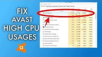 FIX - Avast Service High CPU Usages On Windows