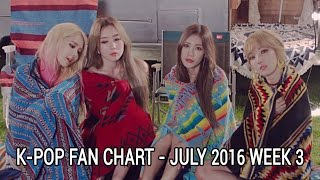 top 40 kpop songs chart july 2016 week 3 fan chart