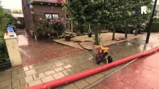 Wateroverlast in Hardinxveld-Giessendam (Beelden: MediaTV)