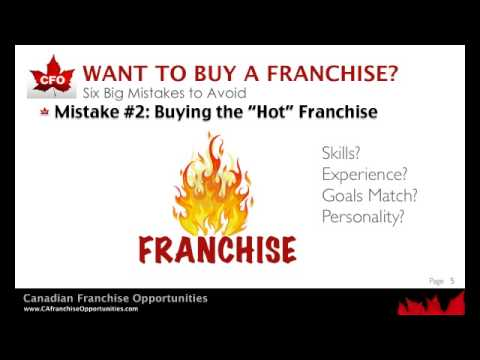 Buy a Franchise - 6 Big Mistakes to Avoid!