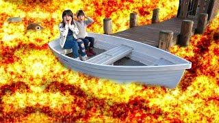 公園でマグマゲーム ボートやブランコで遊ぶよ お出かけ こうくんねみちゃん thumbnail