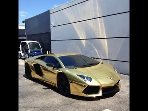 gold car collection 2013 lamborghini ferrari mercedes. Black Bedroom Furniture Sets. Home Design Ideas