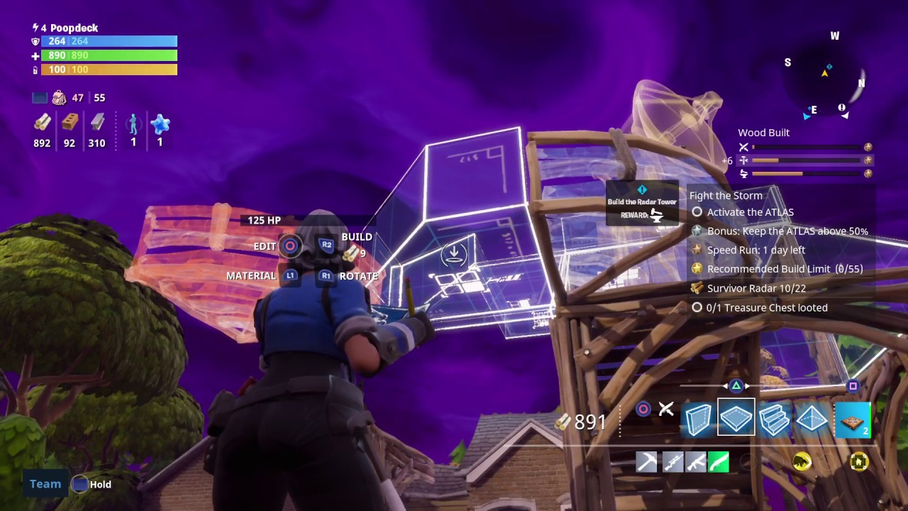 fortnite how to build a radar tower 3 levels floor - fortnite how to build radar