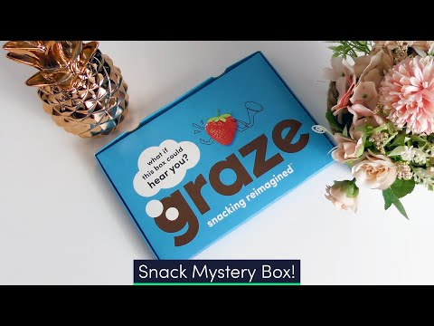 Graze Variety Box - The MYSTERY BOX of Snacks. Unboxing & Taste Test!