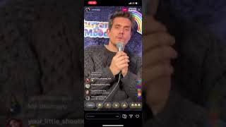 John Mayer- CVS Bag IG live he sings funny new song (2019:12:23)