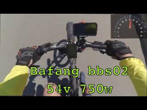 Максимальная скорость электровелосипеда с мотором Bafang bbs02 750w