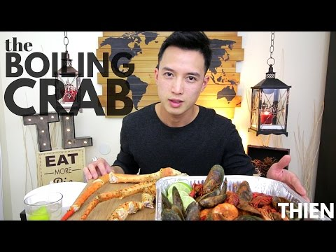 [mukbang with THIEN]: the Boiling Crab (King Crab Legs, Mussels, Crawfish, and Shrimp)