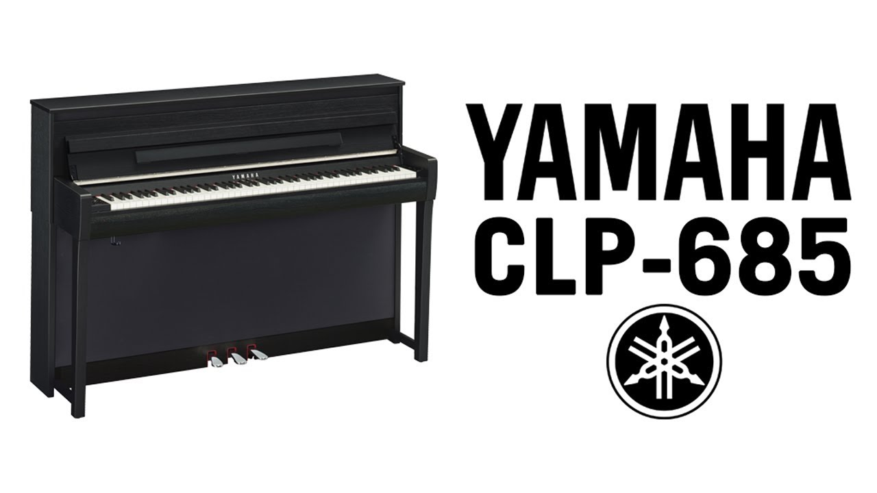 yamaha clavinova clp 685 demo youtube. Black Bedroom Furniture Sets. Home Design Ideas