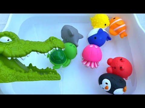 Baby Shark song Nursery Rhymes Learn English Names for Animal Toy아기 상어 노래 동요 동물 장난감에 대한 영어 이름을 배우십시오