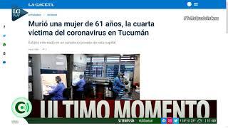 Coronavirus: murió una mujer de 61 años y es la cuarta víctima en Tucumán