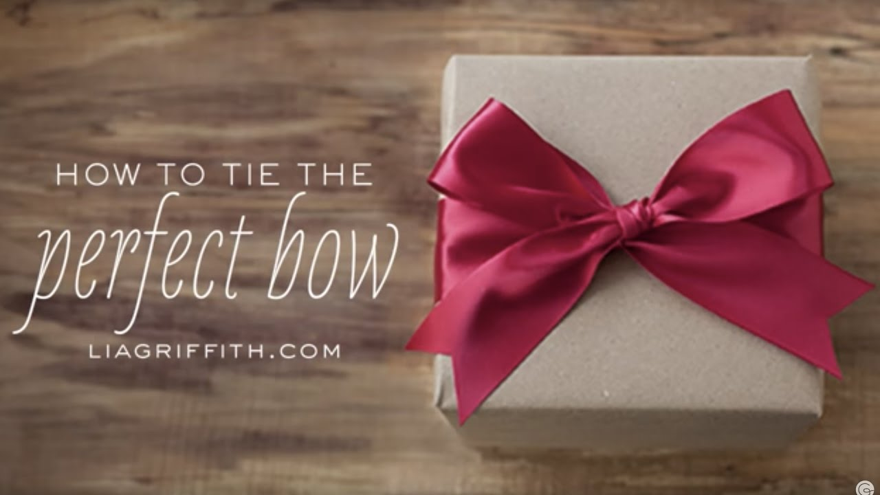 How to tie a bow with wide one sided ribbon