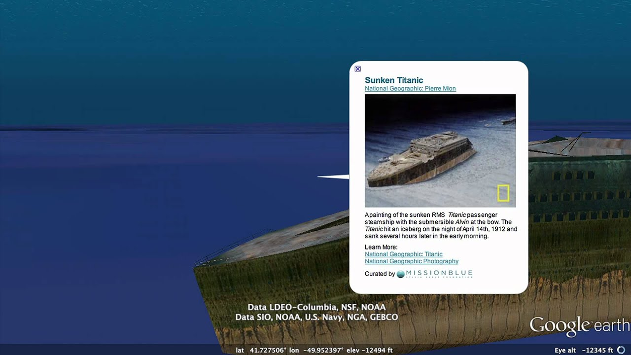Tour The Titanic In Google Earth Youtube