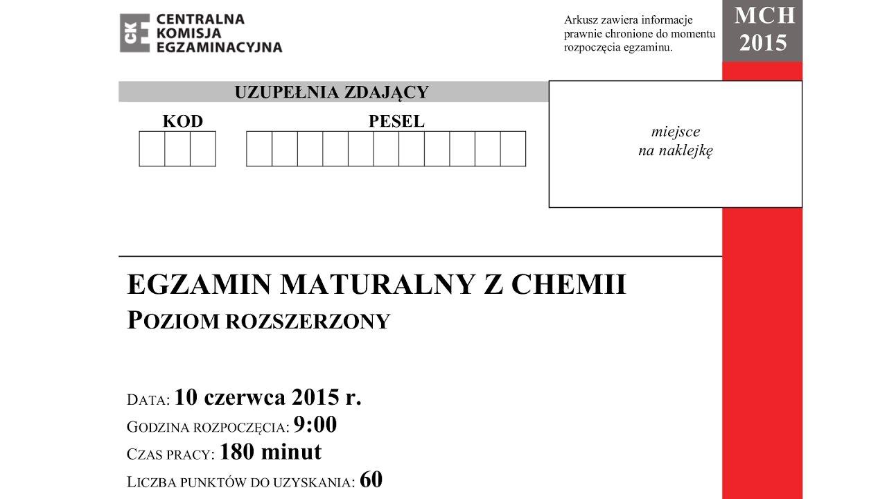 matura chemia 2012 czerwiec