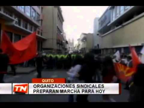 Organizaciones sindicales preparan marcha para hoy