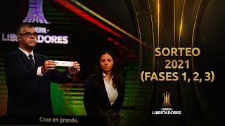 SORTEO CONMEBOL LIBERTADORES 2021 | FASES PREVIAS (1, 2, 3)