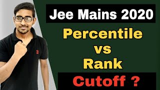 Jee Mains 2020 Result | Jee mains 2020 Percentile vs Rank vs Marks | Percentile cutoffs Jee mains