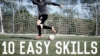 10 Easy Dribbling Skills | Simple Skill Moves For Footballers/Soccer Players