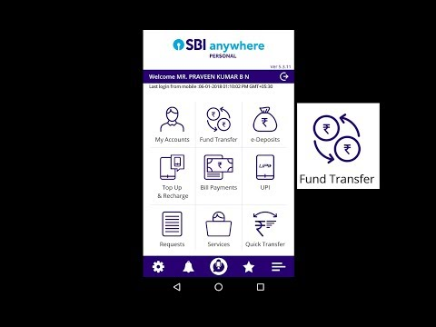 SBI AnyWhere - How to Transfer Money to Another Account - IMPS,NEFT, Direct Transfer