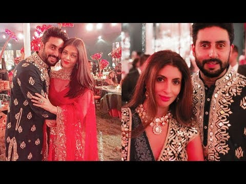 Aishwarya Rai Bachchan and Abhishek Bachchan look too sweet in a family function today😍😍😍😍