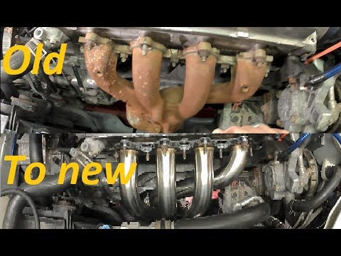 diy-how-to-install-headersexhaust-manifold-on-a-97-honda-civic