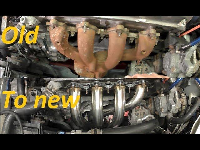 diy how to install headers exhaust