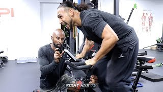 KEITH THURMAN PUSHING IT TO THE MAX IN TRAINING FOR PACQUIAO - KILLS LEGS ON THE BIKE!