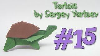 COOL Origami Turtle ( Tortoise ) by Sergey Yartsev | Cómo hacer la tortuga Origami