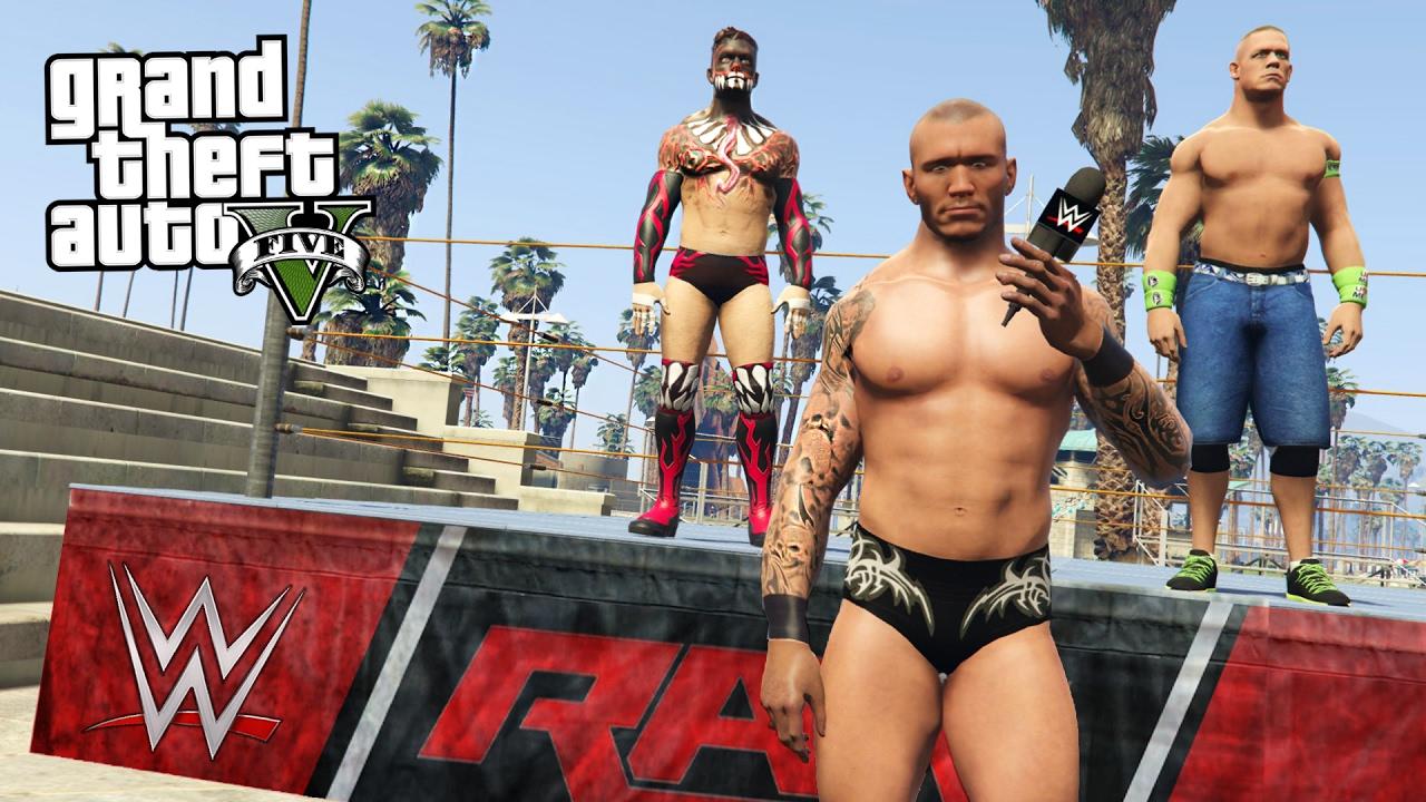 WWE JOHN CENA, RANDY ORTON, FINN BALOR & MORE!! (GTA 5 Mods)