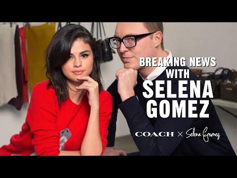 7d19ab7922e Coach News with Selena Gomez and Stuart Vevers - YouTube