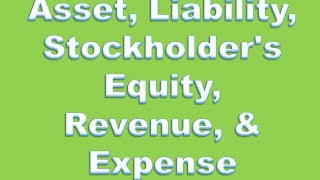 Financial Accounting Definitions: Asset, Liability, Stockholder's Equity, Revenue, & Expense thumbnail