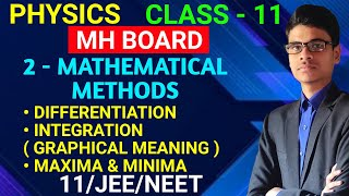 Differentiation, Integration, Maxima and Minima   2 - Mathematical methods   Class - 11   MH Board  