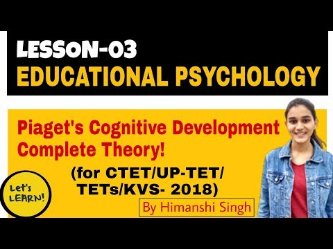 Piaget's Cognitive Development | Stages Of Cognitive Development | For CTET/DSSSB/KVS/UP-TET